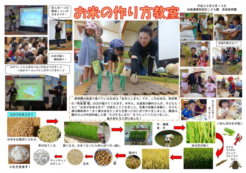 お米の作り方教室